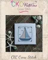 "Nautical ""Sailboat"" Cross Stitch PDF Pattern"