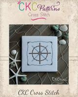 "Nautical ""Steering Wheel"" Cross Stitch PDF Pattern"