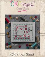 """Sewing  """"Sewing  Machine"""" Cross Stitch PDF Pattern"""