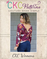 Veronica's Twisted Back Top Sizes XXS to 3X Adults PDF Pattern