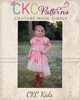 Oona's Keyhole Peasant Dress Sizes 2T to 14 Kids PDF Pattern