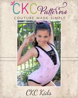 Norma's V-Neck Dancewear Sizes 2T to 14 Kids PDF Pattern