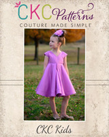 Juliette's Perfect Party Dress Sizes 2T to 14 Kids PDF Pattern