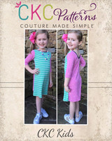 Skylan's Knit Fitted Scoop Neck & Back Crop Top, Top and Dress Sizes 2T to 14 Kids PDF Pattern