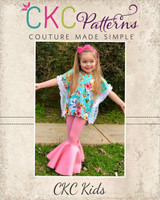 Serendipity's Boho Knit Top and Dress Sizes 2T to 14 Kids PDF Pattern