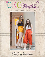 Century's High Waisted Elastic & Paperbag Pants, Capris, & Shorts Sizes XXS to 3X Adults PDF Pattern