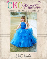 Diamond's Dazzling Dress Sizes 2T to 14 Kids PDF Pattern