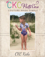 Kellyann's One-Piece Sizes 2T to 14 Kids  PDF Pattern