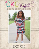 Dana's Dolman Top, Dress, and Maxi Sizes 2T to 14 Kids PDF Pattern
