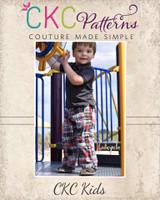 Otto's Knit-Waist Woven Pants Sizes 2T to 14 Kids PDF Pattern