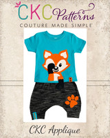 Peekaboo Fox Applique PDF Pattern