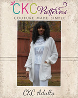 Kiara's Adult Lantern Sleeve Cardigan Sizes XXS to 3X Adults PDF Pattern