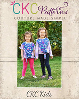 Courtney's Color Blocked Tie Front Shirt Sizes 2T to 14 Kids PDF Pattern