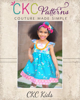 Ashlynn's Dress Sizes NB to 14 Kids PDF Pattern