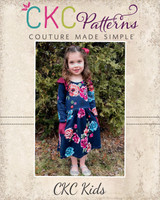 Charlize's Knit Dress Sizes 2T to 14 Kids PDF Pattern
