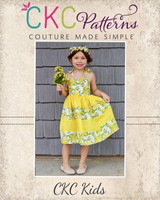 Esme's Heart Dress Sizes NB to 14 Kids PDF Pattern