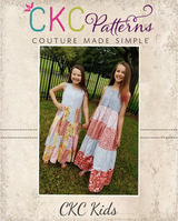 Kingsley's Maxi Dress Sizes 2T to 14 Kids PDF Pattern