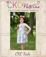 Arizona's Peek-a-Boo Dress Sizes 2T to 14 Kids PDF Pattern