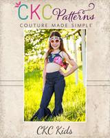 Terra's Ruffle Crop Top  Sizes NB to 14 Kids PDF Pattern
