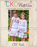 Itzy's Knit Knot Dress Sizes NB to 14 Kids PDF Pattern