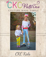 Lolly's Pop Stripe Leggings Sizes 2T to 14 Kids PDF Pattern