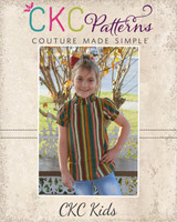 Griselda's Shirred High Neck Blouse Sizes 2T to 14 Kids PDF Pattern