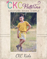 Papaya's Paperbag Waist Skirt Sizes 2T to 14 Kids PDF Pattern