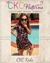 Romania's Ruched Top and Dress Sizes 2T to 14 Kids PDF Pattern