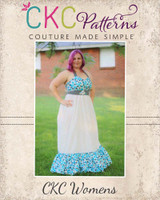 Peony's  Sweetheart Maxi Dress Sizes XS to XL Adults PDF Pattern