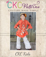 Adele's Ruffled Jacket Sizes 0/6m to 8 Kids PDF Pattern