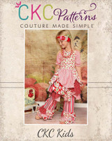 Petunia's Pretty Petal Dress and Pants Sizes 6/12m to 8 Kids PDF Pattern