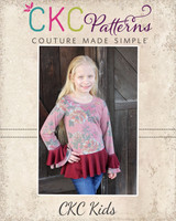 Heidi's Hi-Low Peplum Shirt Sizes 6/12m to 15/16 Kids PDF Pattern
