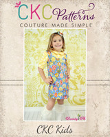 Sally's Fitted A-Line Dress Sizes 6/12m to 8 Kids PDF Pattern