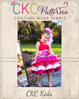 Francesca's Frilly Ruffle Dress Sizes NB to 8 Kids and Dolls PDF Pattern