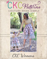 Cosette's Knit and Woven Dress Sizes XS to XL Adults PDF Pattern