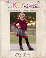 Quinn's Knit Skirted Leggings Sizes NB to 15/16 Kids PDF Pattern