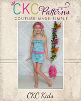 Rebecca's Knit Romper Sizes 6/12m to 8 Kids PDF Pattern