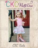 Elliette's Boutique Apron Skirt Sizes 6/12m to 8 Kids and Dolls PDF Pattern