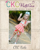 Farrah's Peplum Romper Sizes NB to 8 Kids and Dolls PDF Pattern
