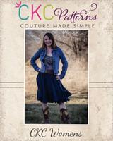 Victoria's Ruffled Swirly Skirt Sizes XS to XL Adults PDF Pattern