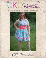 Lexie's Retro Halter Dress Sizes XS to 5X Adults PDF Pattern