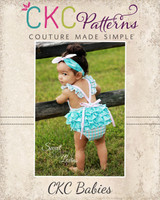 Jaimesyn's Ruffled Bottom Romper Sizes NB to 18/24m PDF Pattern