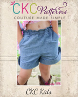 Blossom's Tab Shorts Sizes NB to 15/16 Kids PDF Pattern