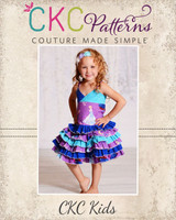 Stacy's Sassy Ruffle Skirt Sizes 6/12m to 15/16 Kids and Dolls PDF Pattern