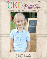 Brandi's Ruffled Polo Shirt Sizes 6/12m to 8 Kids PDF Pattern