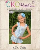 Skylie's Dance Skort Sizes 2T to 8 Kids PDF Pattern