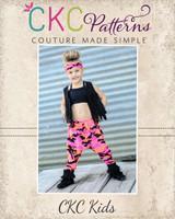 Parker's Parachute Pants Sizes 2T to 8 Kids PDF Pattern