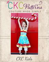 Cammy's Wrap Bodice Dress Sizes 6/12m to 8 Kids PDF Pattern
