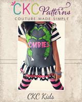 Heather's Ruffled Raglan T-Shirt Sizes 6/12m to 15/16 Kids PDF Pattern