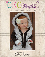 Raven's Ruffle Zip-Up Hoodie Sizes 6/12m to 8 Kids PDF Pattern